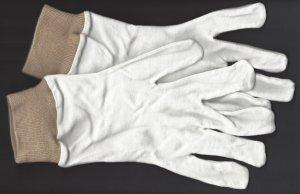 Handschuhe  weiß/beige