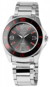 Armbanduhr Rot Schwarz Silber Edelstahl SirTime