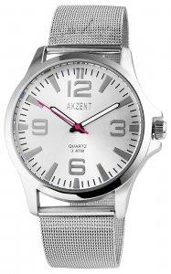 Armbanduhr Silber Metall Akzent