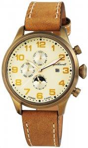 Armbanduhr Sand Bronze Braun Leder Engelhardt 389504529002