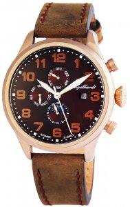 Armbanduhr Kupfer Braun Leder Engelhardt 389537029002
