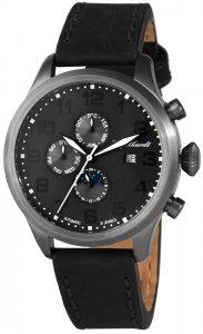 Armbanduhr Anthrazit Schwarz Leder Engelhardt 389521529002