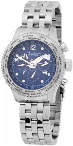 Armbanduhr Blau Silber Metall Engelhardt 386723028019