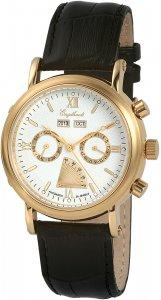 Armbanduhr Weiß Silber Schwarz Leder Engelhardt 385702029061