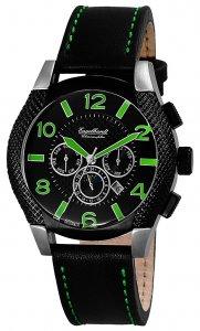 Armbanduhr Grün Schwarz Silikon/Leder Engelhardt 387721129016