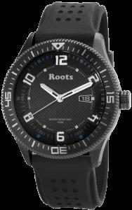 Armbanduhr Schwarz Silikon ROOTS R882LBLU