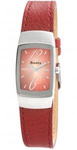 Armbanduhr Rot Silber Leder ROOTS R828LCRN