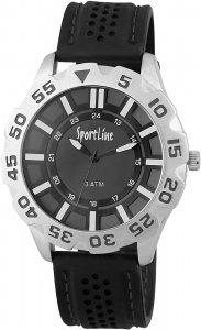 Armbanduhr Schwarz Silber Silikon Sportline