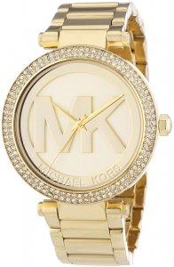 Armbanduhr Gold Strass MK-Logo Michael Kors