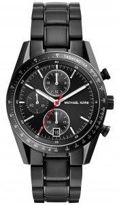 Armbanduhr Chronograph Schwarz Edelstahl Michael Kors