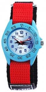 Armbanduhr Blau Rot Schwarz Flugzeug Klettverschluß Fame