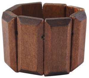 Armband Hell-Braun mit 8 Holzelementen 5cm breit