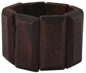 Armband Dunkel-Braun mit 8 Holzelementen 5cm breit