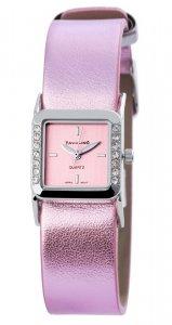 Armbanduhr Pink/Lila Kunstleder Tavolino