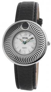 Armbanduhr Silber Perlmutt Schwarz Tavolino
