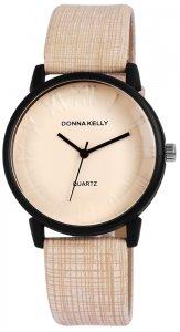 Armbanduhr Beige Kunstleder Donna Kelly