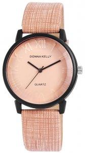 Armbanduhr Rosa/Braun Kunstleder Donna Kelly