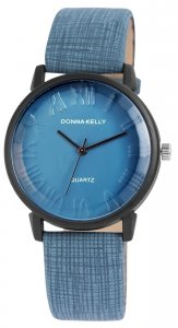Armbanduhr Blau Kunstleder Donna Kelly