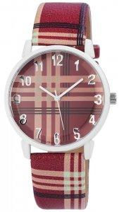 Armbanduhr Rosa/Rot Kunstleder Donna Kelly