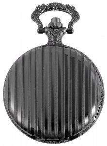 Taschenuhr Schwarz Metall Classix