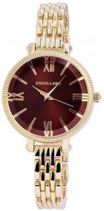 Armbanduhr Braun Gold Metall Excellanc