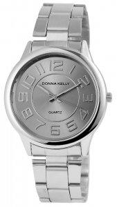Armbanduhr Grau Silber Metall Donna Kelly