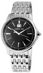 Armbanduhr Schwarz Silber Metall CERRUTI CRA072SN02MS