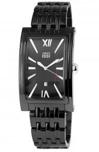 Armbanduhr Schwarz Metall CERRUTI CRB042SB02MB