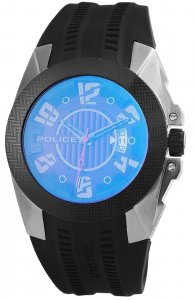 Armbanduhr Blau Schwarz Silikon POLICE PL.14155JSUB/27P