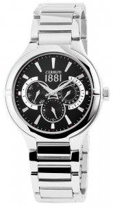 Armbanduhr Schwarz Silber Metall CERRUTI CRA105SN02MS