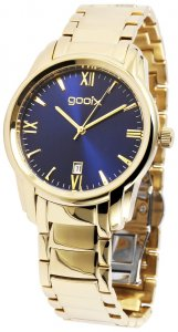 Armbanduhr Blau Gold Metall Gooix DUA-05874