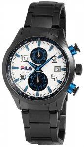 Armbanduhr Weiss Blau Schwarz Metall FILA 38-008-003