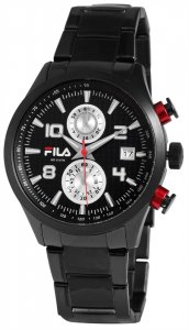 Armbanduhr Schwarz Silber Metall FILA 38-008-002