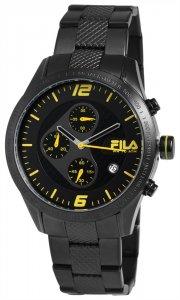 Armbanduhr Schwarz Gelb Metall FILA 38-001-004
