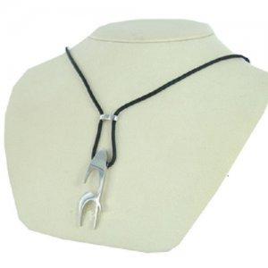 Modeschmuckkette Schwarz Silber Edelstahl Chronotech