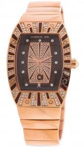 Armbanduhr Braun Rosé Metall CERRUTI CRS002S555A