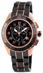 Armbanduhr Schwarz Rosé Keramik CERRUTI CRA079Z271H