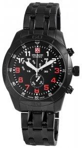 Armbanduhr Schwarz Chronograph Swiss Military