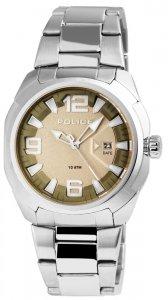 Armbanduhr Grün Beige Silber Edelstahl POLICE PL.13836JS/61M
