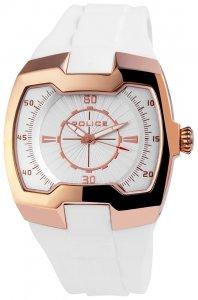 Armbanduhr Silber Rosé Weiss Silikon POLICE PL.13452JSR/04