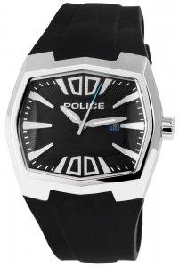 Armbanduhr Schwarz Silber Silikon POLICE PL.13834JS/02