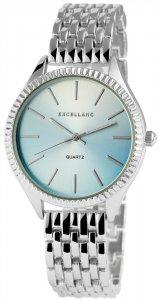 Armbanduhr Blau Silber Excellanc