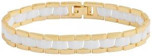 Armband Gold Weiss Edelstahl Keramik Akzent