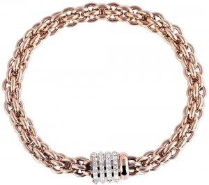Armband Rosé Edelstahl Crystal Akzent