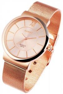 Armbanduhr Rosé Metall Akzent