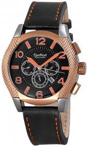 Armbanduhr Rosé Schwarz Silikon/Leder Engelhardt 387721329016