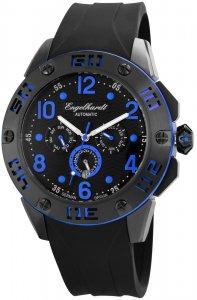 Armbanduhr Schwarz Blau Silikon Engelhardt 388971129004