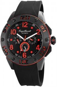 Armbanduhr Schwarz Rot Silikon Engelhardt 388971029004