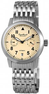 Armbanduhr Beige/Gelb Silber Metall Engelhardt 388927528002