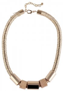 Halskette Schlangenhalskette Gold Textil Metal